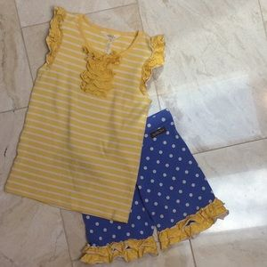 Girls Matilda Jane tank/shorts outfit